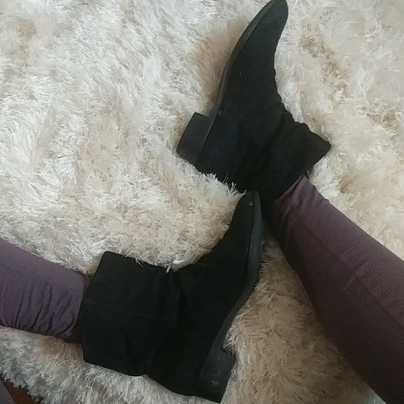 Murano Shoes   Black Slouch Booties